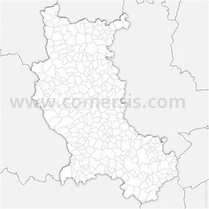 Carte SVG des communes de la Loire automatique