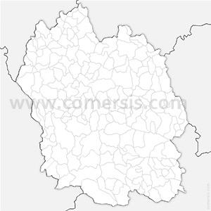 Carte SVG des communes de la Lozère automatique
