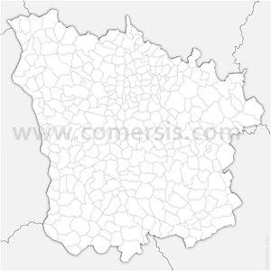 Carte SVG des communes de la Nièvre automatique