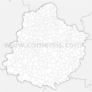 Carte SVG des communes de la Sarthe automatique