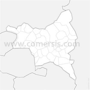 Carte SVG des communes de la Seine-Saint-Denis automatique