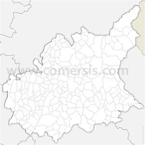 Carte SVG des communes des Alpes-de-Haute-Provence automatique