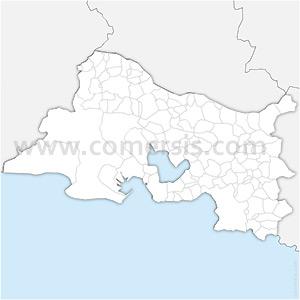 Carte SVG des communes des Bouches-du-Rhône automatique