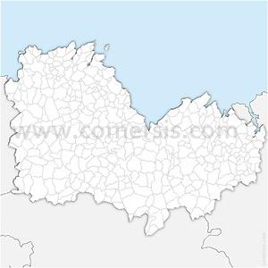 Carte SVG des communes des Côtes-d'Armor automatique