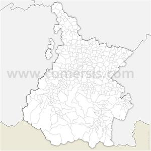 Carte SVG des communes des Hautes-Pyrénées automatique