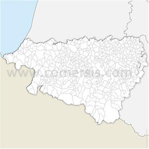 Carte SVG des communes des Pyrénées-Atlantiques automatique