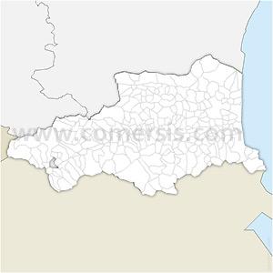 Carte SVG des communes des Pyrénées-Orientales automatique