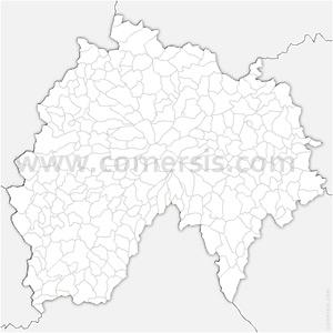 Carte SVG des communes du Cantal automatique