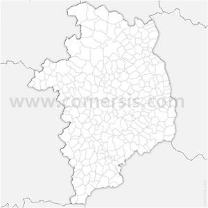 Carte SVG des communes du Cher automatique