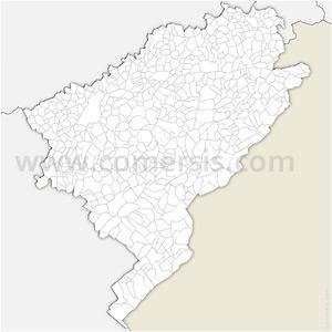 Carte SVG des communes du Doubs automatique