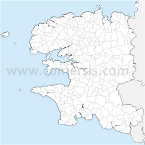Carte SVG des communes du Finistère automatique