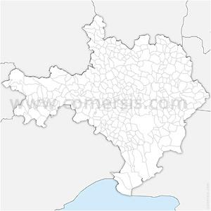Carte SVG des communes du Gard automatique