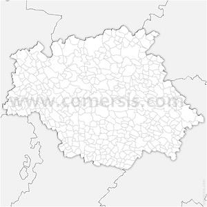 Carte SVG des communes du Gers automatique