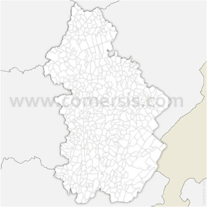 Carte SVG des communes du Jura automatique