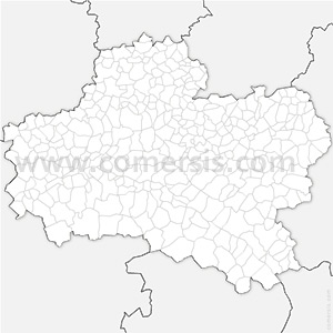 Carte SVG des communes du Loiret automatique