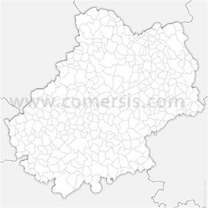Carte SVG des communes du Lot automatique