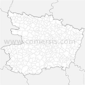 Carte SVG des communes du Maine-et-Loire automatique