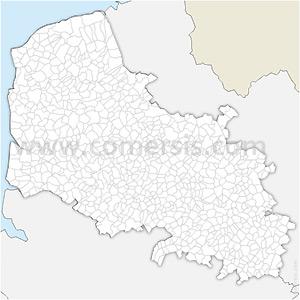 Carte SVG des communes du Pas-de-Calais automatique