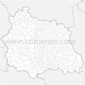 Carte SVG des communes du Puy-de-Dôme automatique