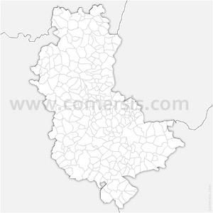 Carte SVG des communes du Rhône automatique