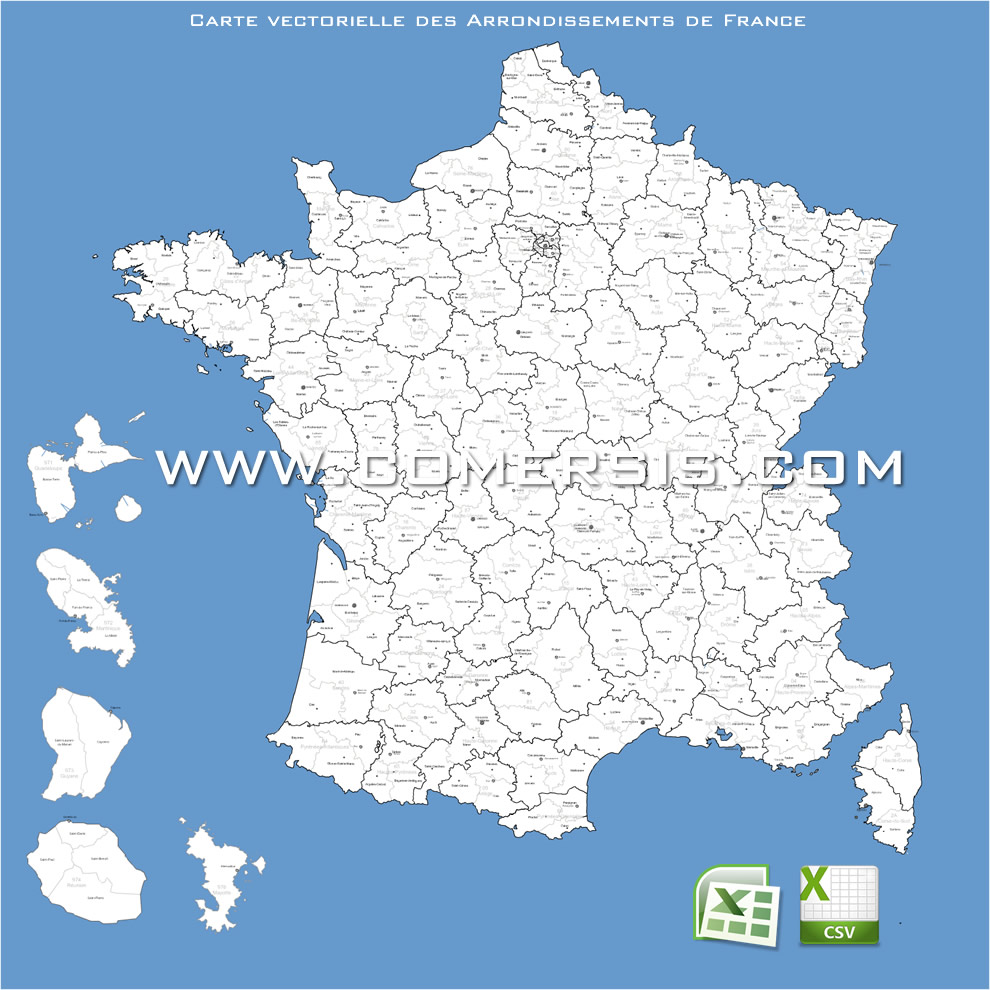 carte des arrondissements de France