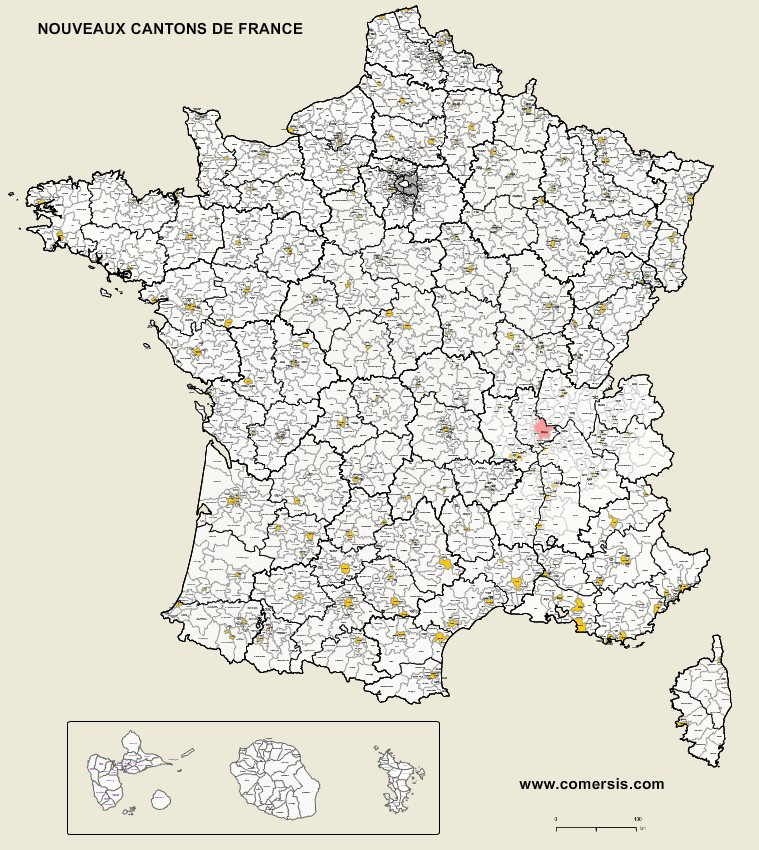 carte des cantons de france