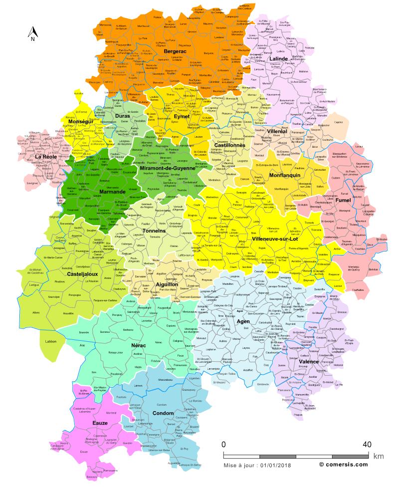 Souvent Carte des bassins de vie du Lot-et-Garonne VF65