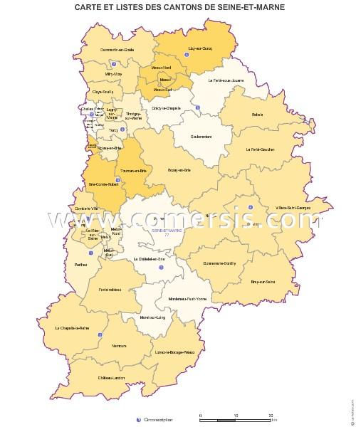 Carte des anciens cantons de seine et marne - Office du tourisme seine et marne ...