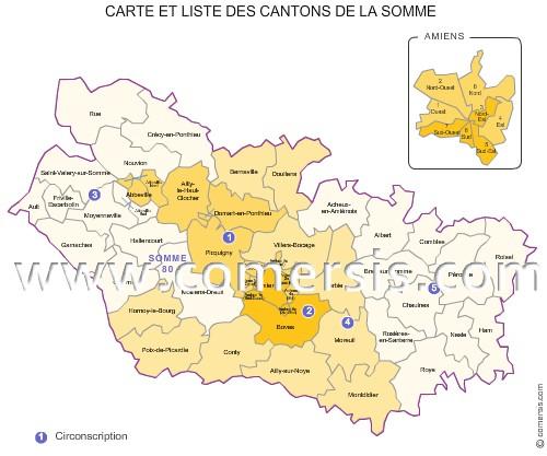 carte des anciens cantons de la somme