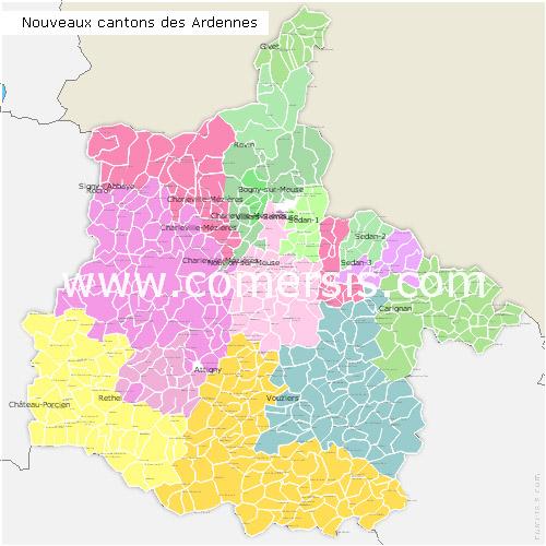 Ajouter au panier nouveaux cantons des Ardennes pour Word et Excel