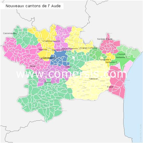 Ajouter au panier nouveaux cantons de l'Aude pour Word et Excel