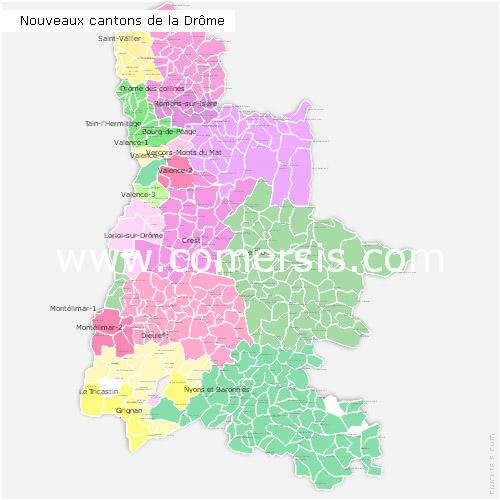 Ajouter au panier nouveaux cantons de la Drôme pour Word et Excel