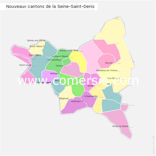 Ajouter au panier nouveaux cantons de la Seine-Saint-Denis 2015 pour Word et Excel