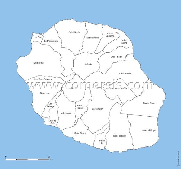 communes de  La Réunion - 974