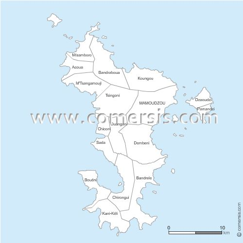 communes de  Mayotte - 976