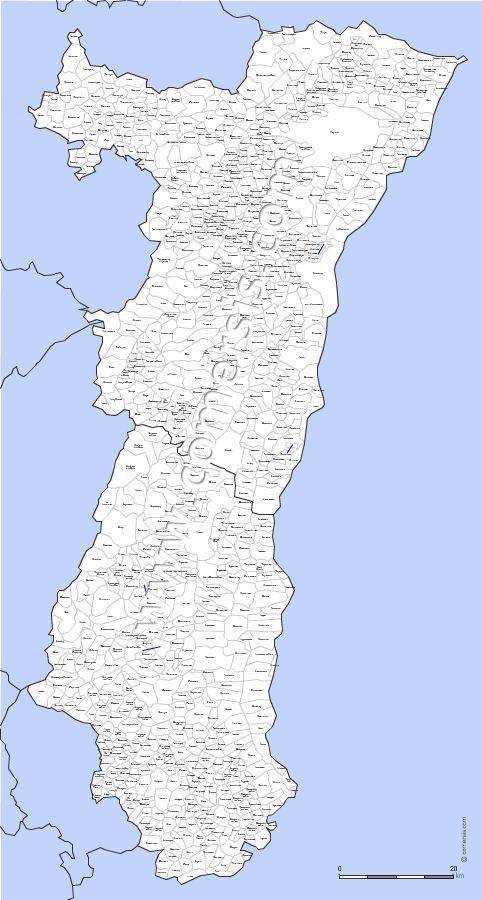 Carte des villes et communes d'Alsace