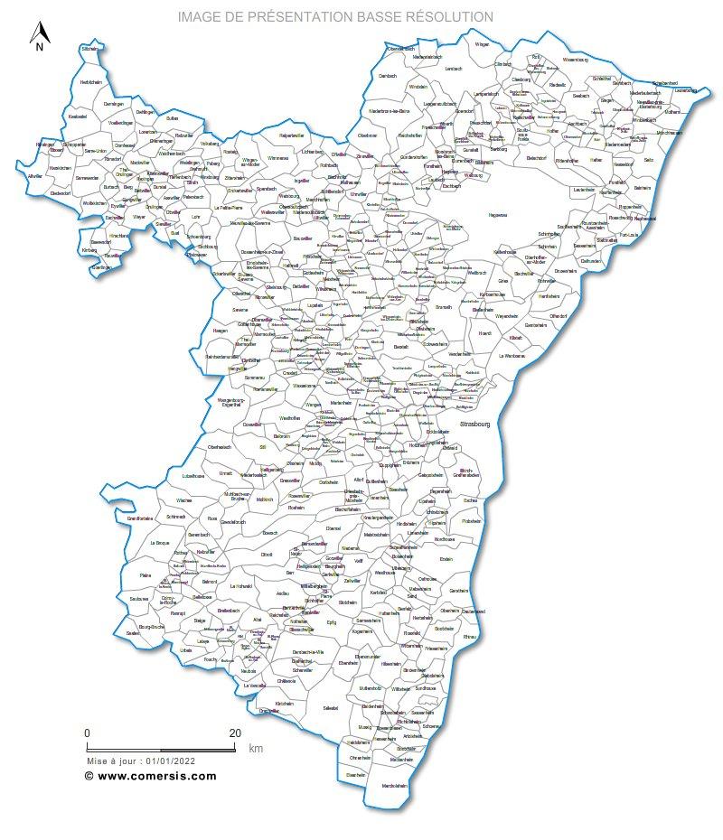 communes du  Bas-Rhin - 67