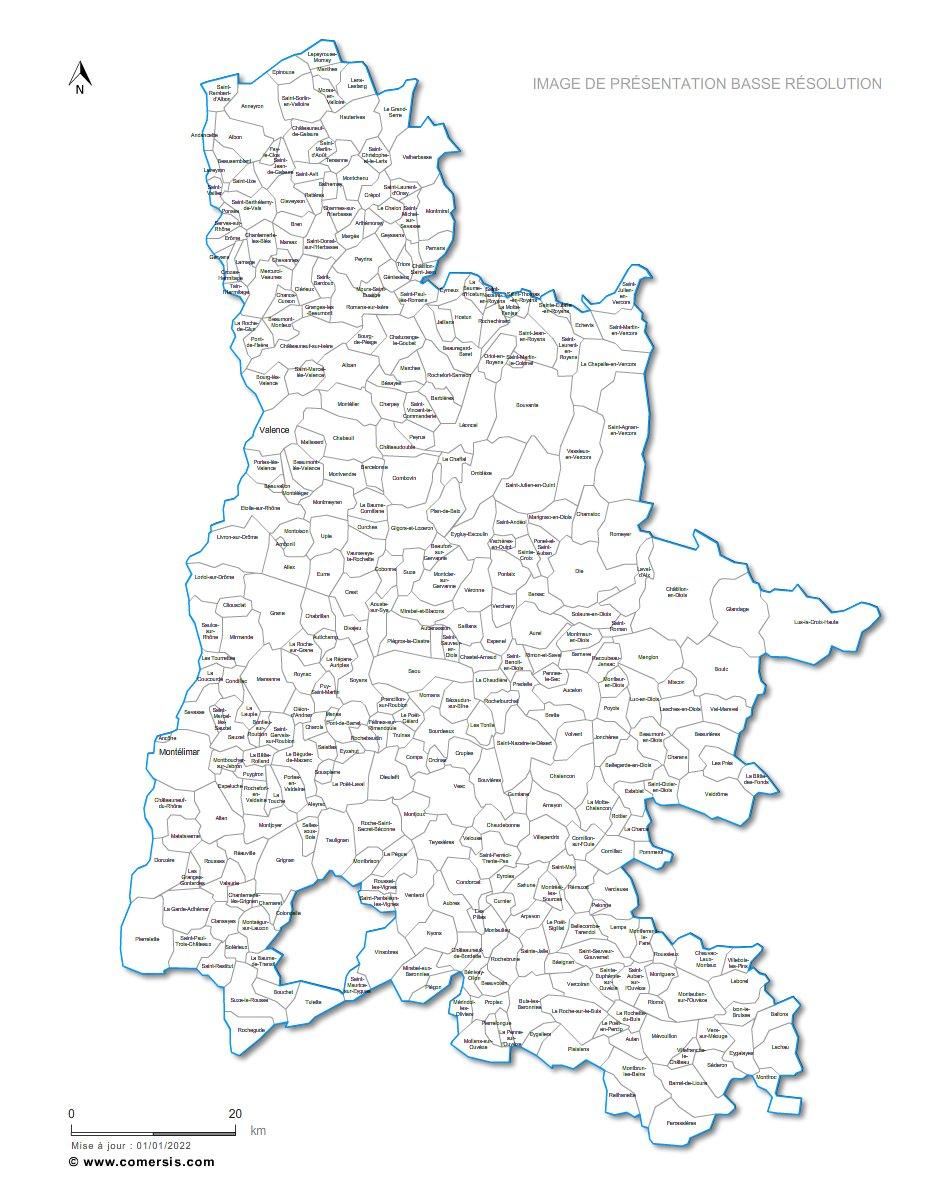 Ajouter au panier communes de la Drôme - 26