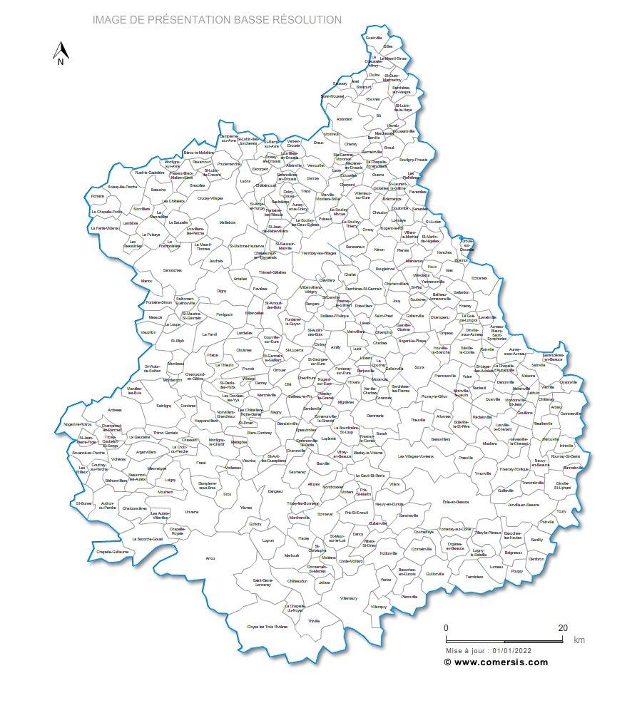 Eure et Loir carte de France
