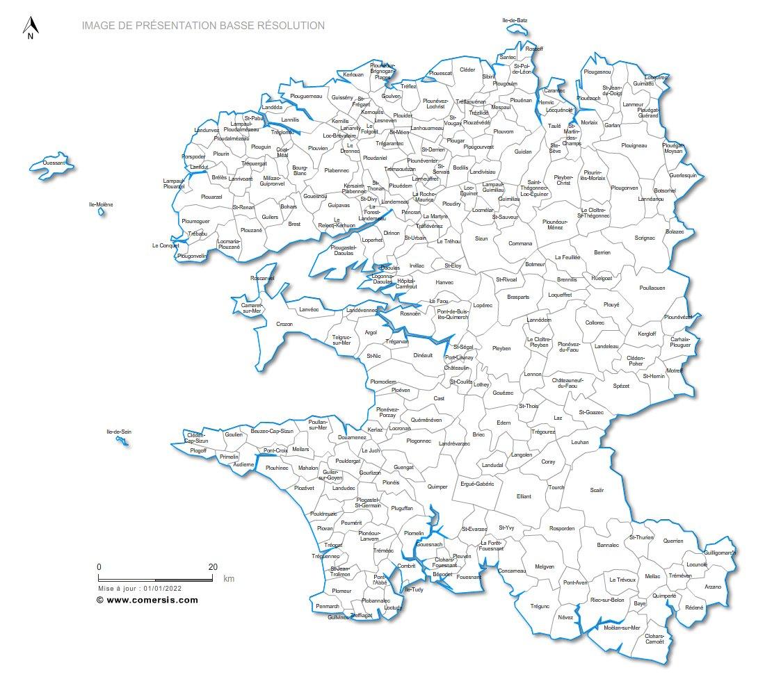 communes du Finistère - 29