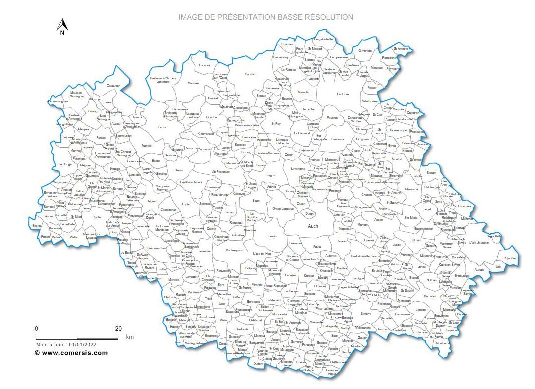 communes du Gers - 32