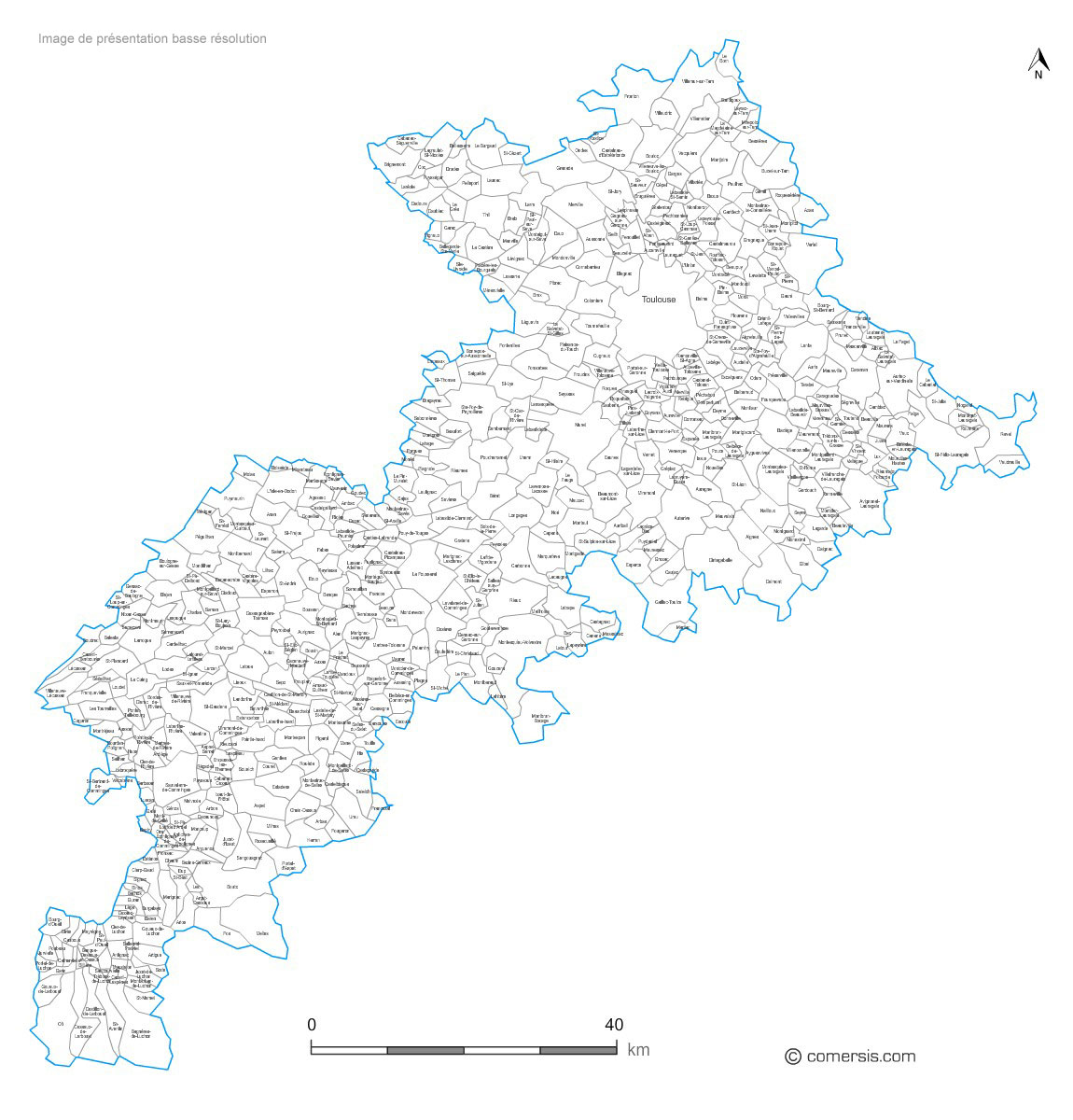 communes de la Haute-Garonne - 31