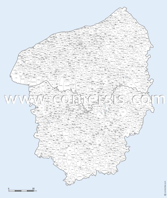 carte de haute normandie Carte des villes et communes de Haute Normandie