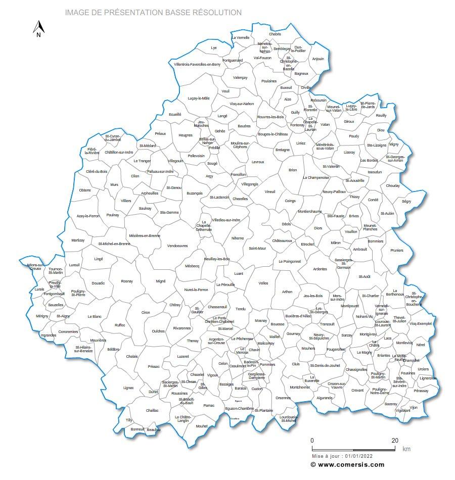 communes de l'Indre - 36
