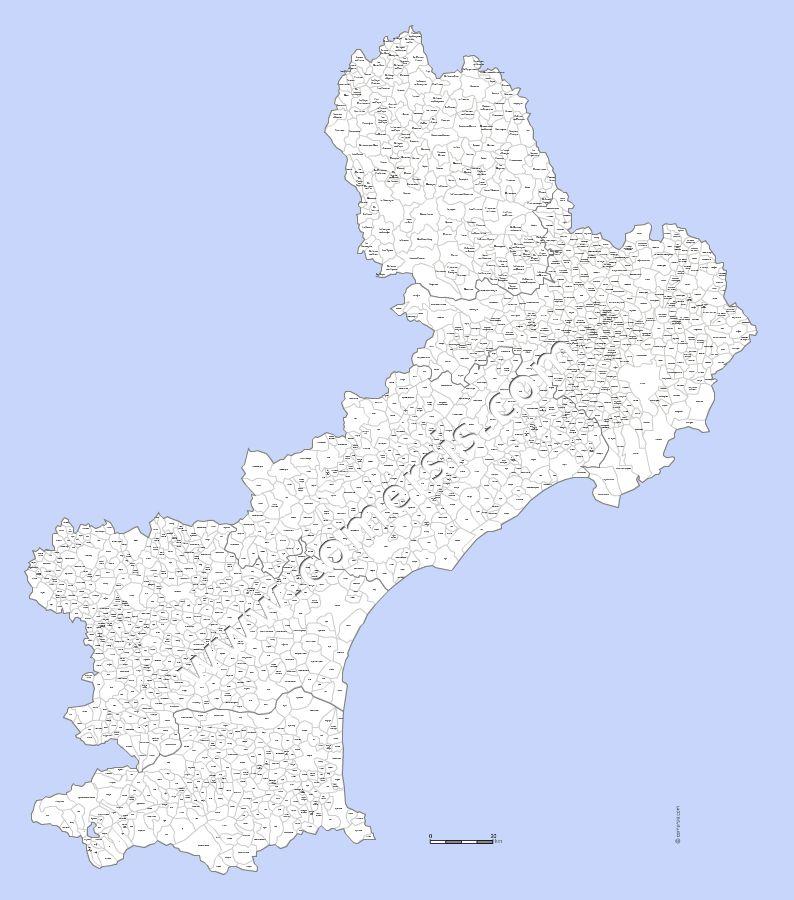 Carte Des Villes Et Communes Du Languedoc Roussillon