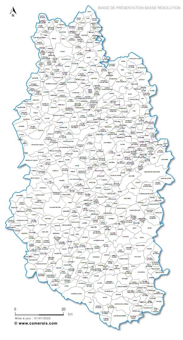 communes de la Meuse - 55