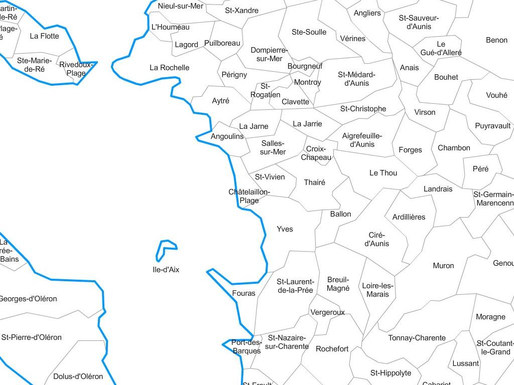 carte charente maritime communes Carte personnalisable des villes et communes de la Charente Maritime