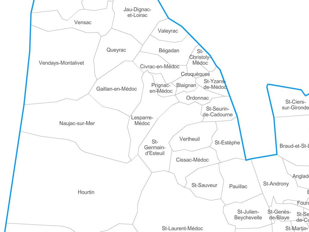 Villes de Gironde