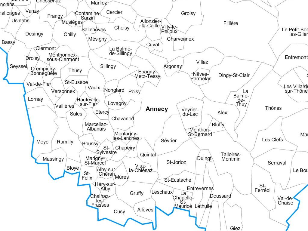 carte haute savoie avec communes Carte personnalisable des villes et communes de la Haute Savoie