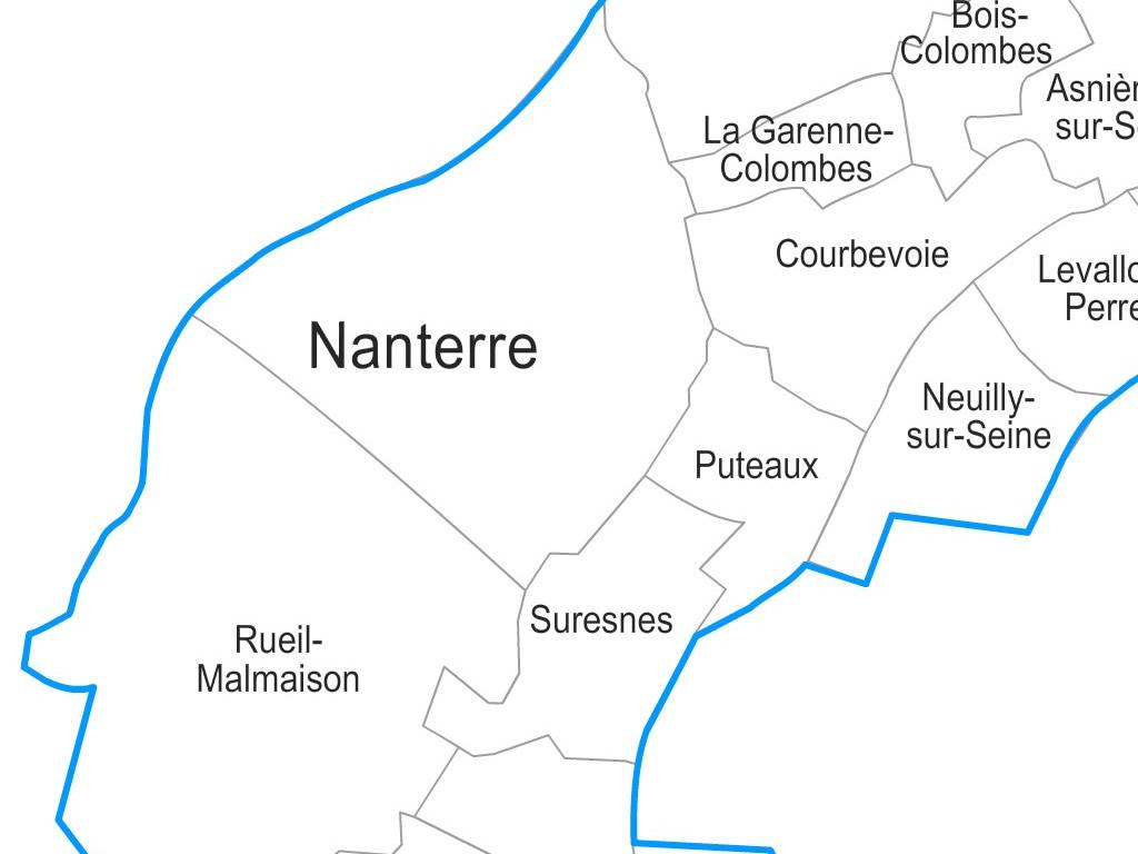 carte du 92 avec les villes Carte personnalisable des villes et communes des Hauts de Seine